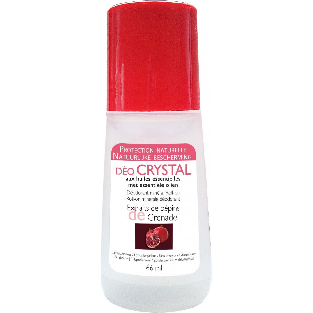 Déodorant Roll-On Naturel Huiles Essentielles - Grenade Crystal