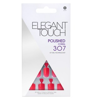 Faux-Ongles Polished - Coral 307 Elegant Touch 1