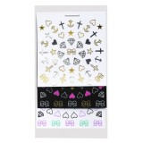 Planches autocollants Stylist -Hearts & Bowls Nail Art Stickers Elegant Touch 2