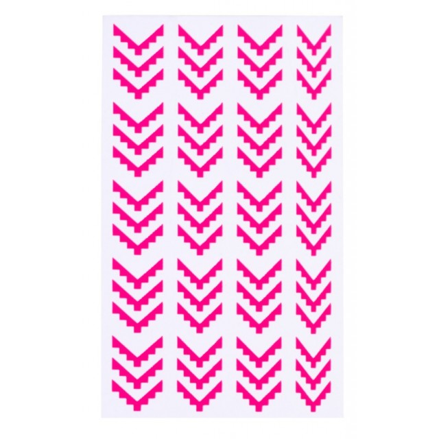 Planches autocollants Stylist - Stencils Aztec Elegant Touch rose