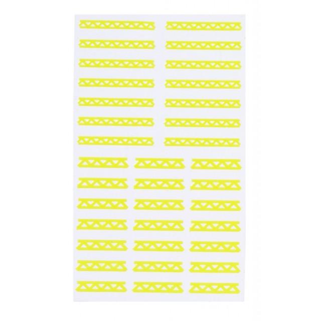 Planches autocollants Stylist - Stencils Aztec Elegant Touch jaune