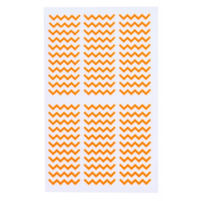 Planches autocollants Stylist - Stencils Aztec Elegant Touch orange
