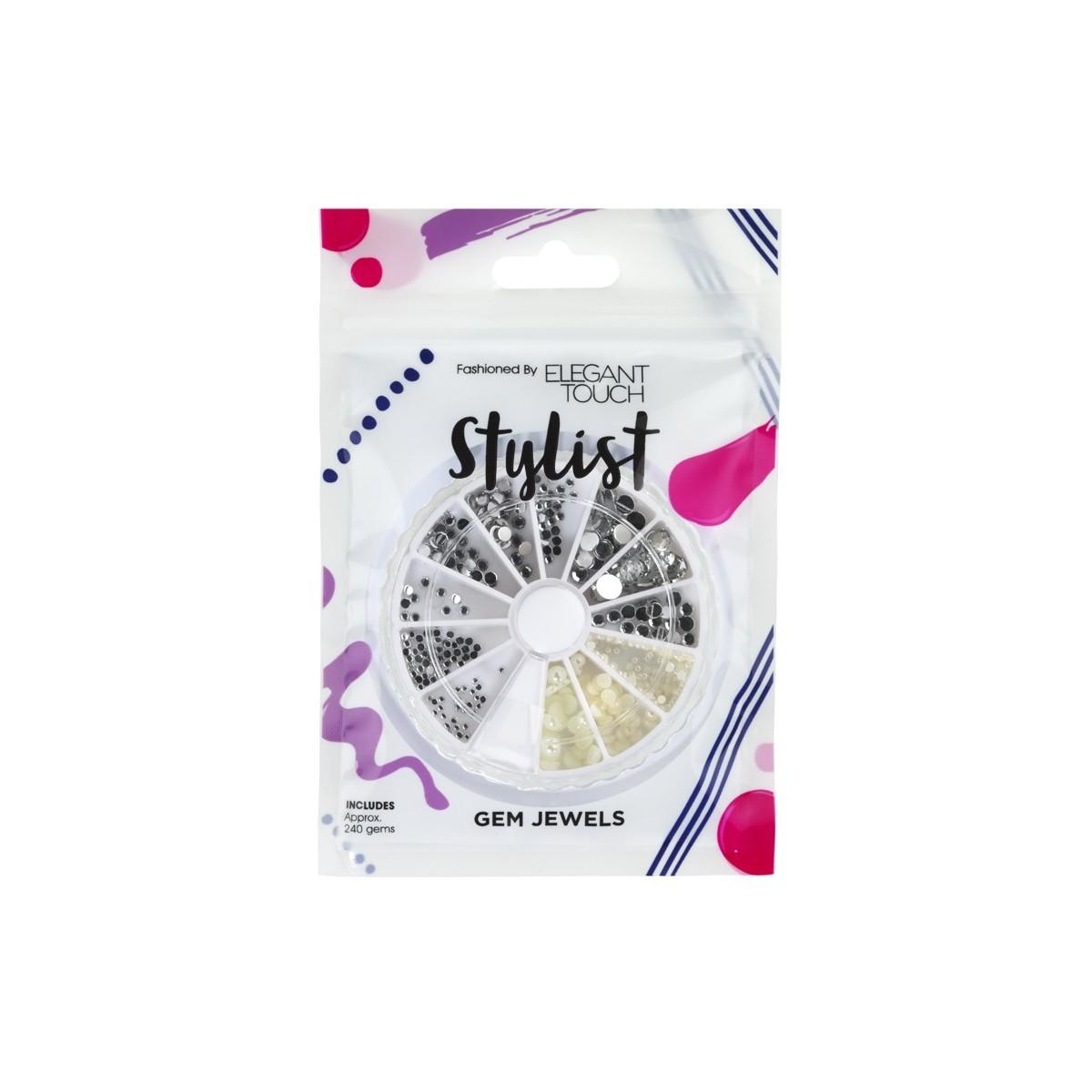 Bijoux et perles autocollantes Stylist - Gem Wheel Diamonds & Pearls Elegant Touch 1