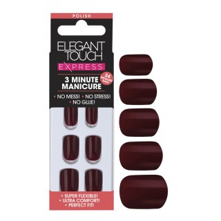 Faux Ongles Pré Encollés Express Polished - Garnet Elegant Touch 1