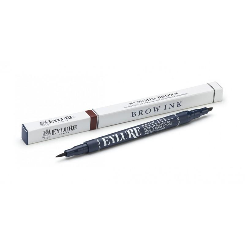 Marqueur Defining & Shading - Brow Ink - 20 Mid Brown Eylure