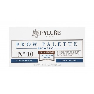 Palette pour sourcils Defining & Shading - Brow Palette - 10 Dark Brown Eylure