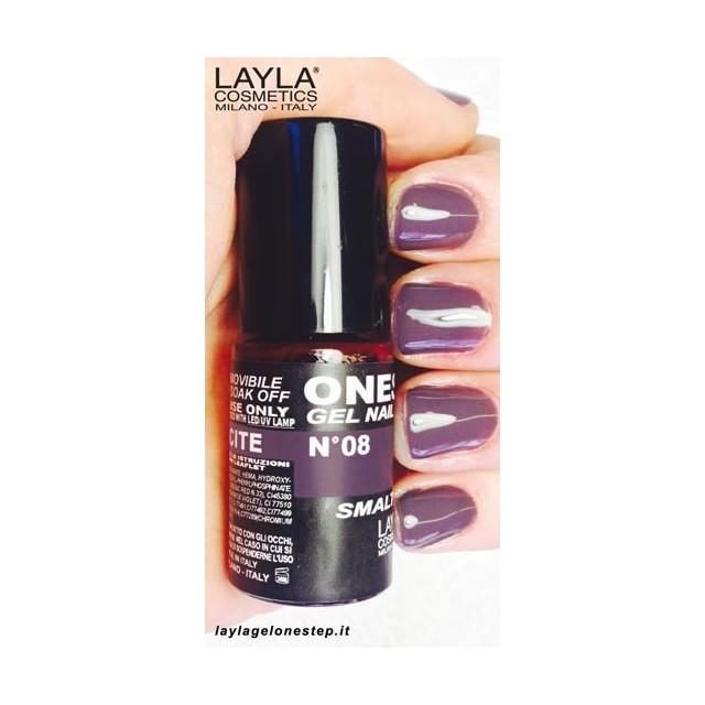 Vernis à ongles Anthracite Violet clair UV Gel One-step Layla 2