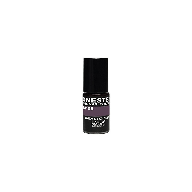 Vernis à ongles Anthracite Violet clair UV Gel One-step Layla 1