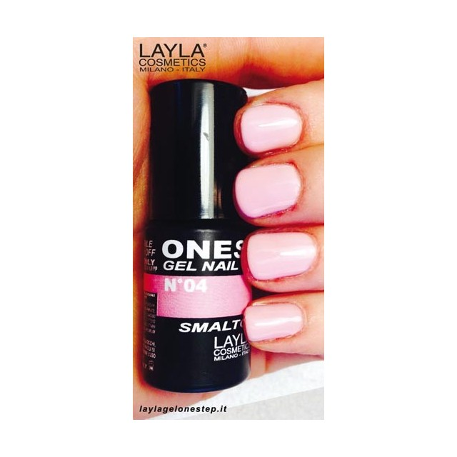 Vernis à ongles Orgasm Rose foncé UV Gel One-step Layla 2