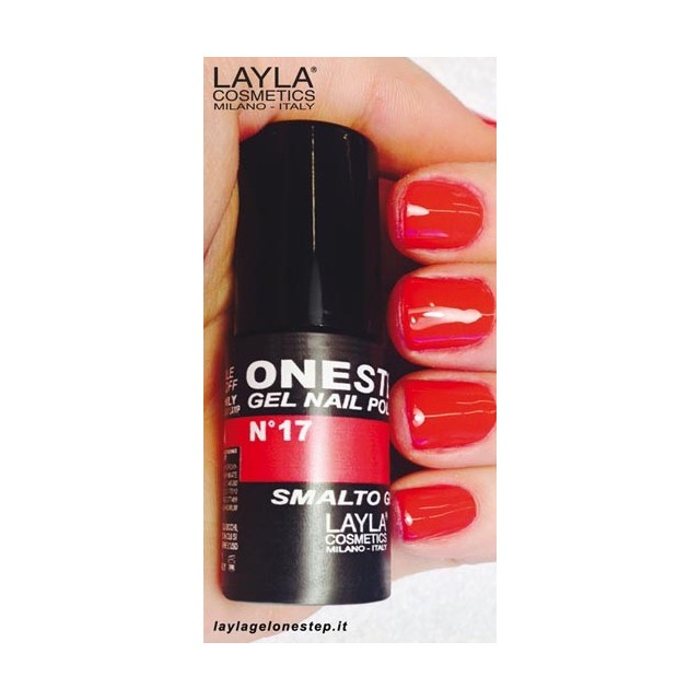 Vernis à ongles Alla scala Rouge UV Gel One-step Layla 2