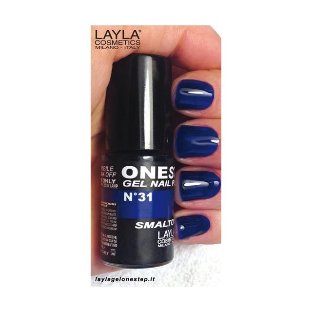 Vernis à ongles Bleu nuit Blues UV Gel One-step Layla 2