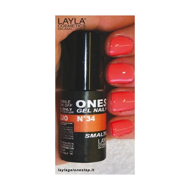 Vernis à ongles Orange Fluo UV Gel One-step Layla 2