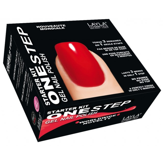 Starter Kit pour Vernis à Ongles One-step Layla packaging