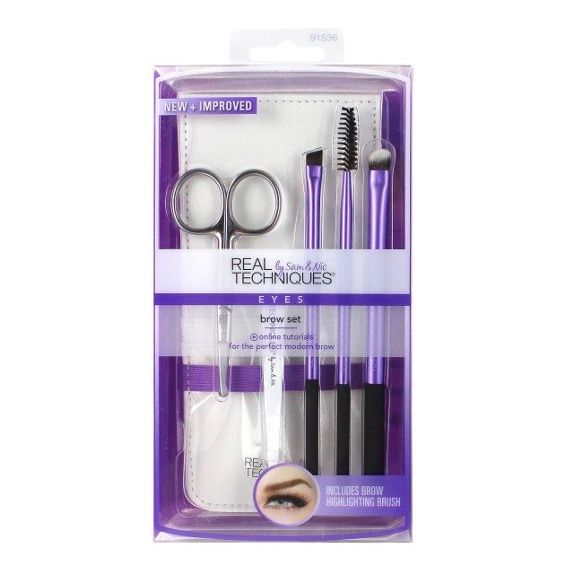 Set Pinceaux Sourcils Real Techniques packaging front
