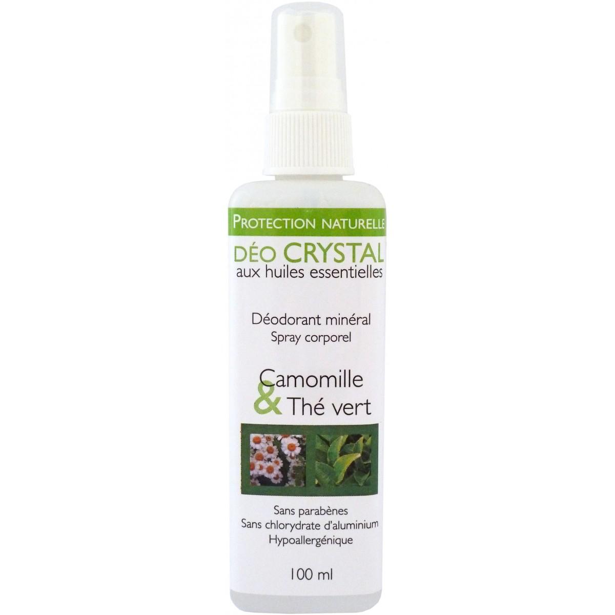 Déodorant Spray Naturel Huiles Essentielles, Camomille