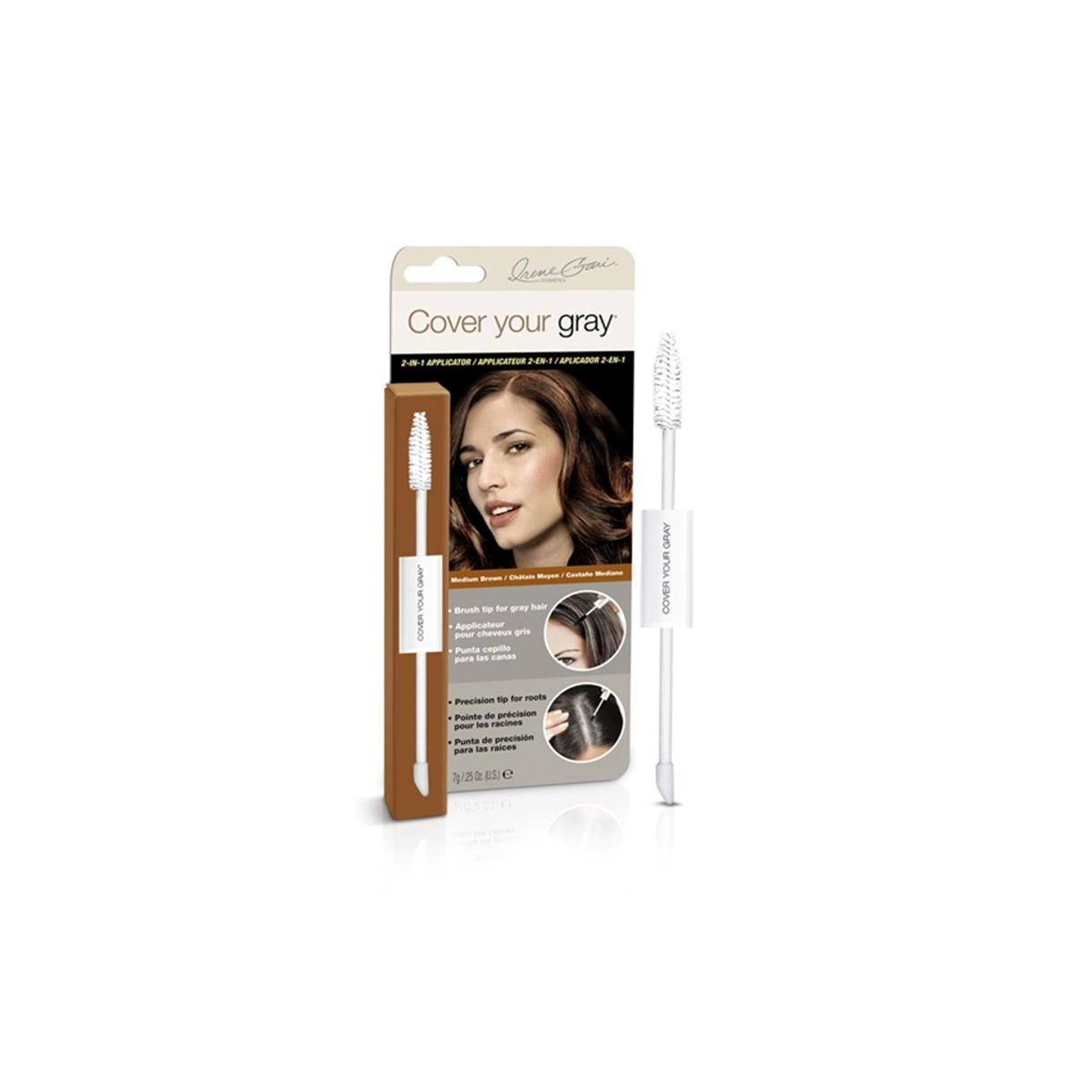 Applicateur 2 En 1 Camoufleur Pour Cheveux Gris - Marron