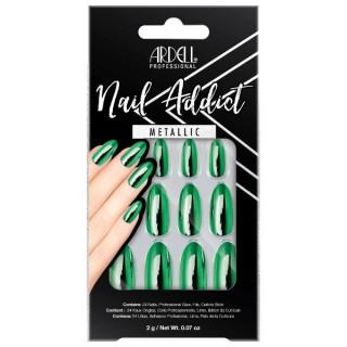 Faux-ongles Metallic Vert -...