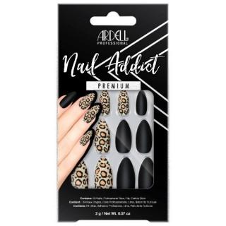 Faux ongles Black Leopard -...