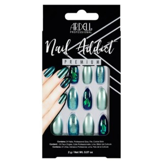 Faux ongles verts, effet...