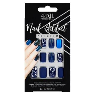 Faux ongles bleus mats -...