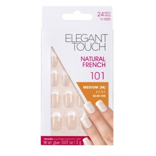 Faux-Ongles Natural French - 101 M Bare Elegant Touch 1