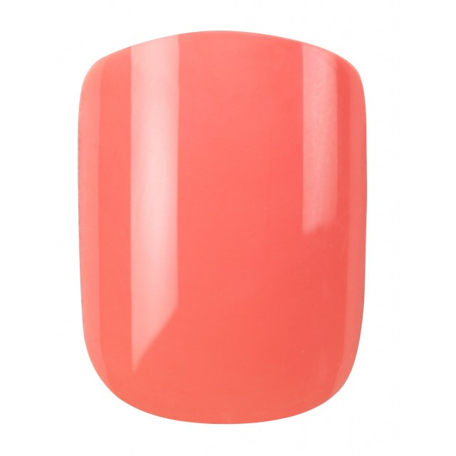 Faux Ongles Pré-Encollés Express Polished - Coral Oval Elegant Touch 2