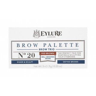 Palette pour sourcils Defining & Shading - Brow Palette - 20 Mid Brown Eylure 2