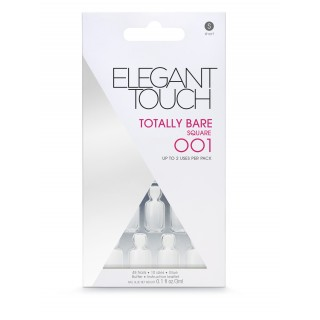 Faux-Ongles Totally Bare - Short Square 001 Elegant Touch 1