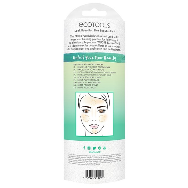 Pinceau Poudre ECOTOOLS packaging back