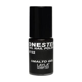 Vernis à ongles Noir 100% black UV Gel One-step Layla 1