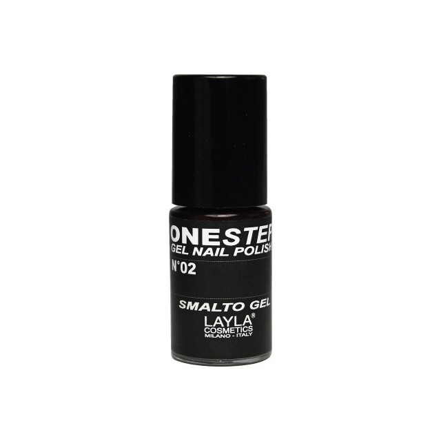 Vernis à ongles Noir 100% black UV Gel One-step Layla 1