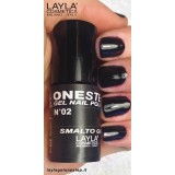 Vernis à ongles Noir 100% black UV Gel One-step Layla 2