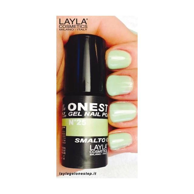 Vernis à ongles Lime Love Vert clair UV Gel One-step Layla 2